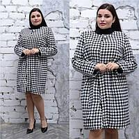 Женское пальто из принтованного кашемира