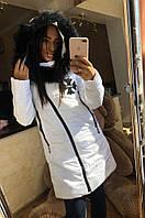 Куртка женская зимняя белая, фото 1