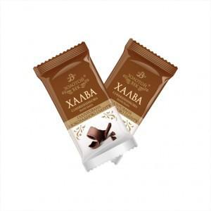 Халва ванильная в шоколадной глазури 1,5кг. ТМ Золотой Век