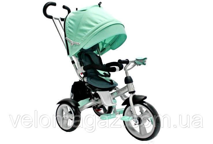 Crosser T-503 детский трехколесный бирюзовый велосипед колеса EVA