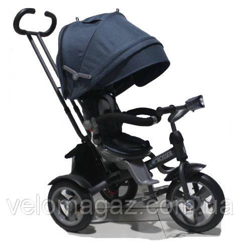 Crosser T-503 ECO AIR детский трехколесный велосипед синий
