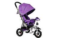 Crosser T 350 ECO AIR детский трехколесный сиреневый велосипед-коляска , фото 1