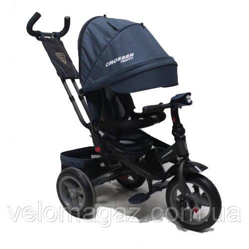 CROSSER T-400 TRINITY ECO AIR детский трехколесный велосипед синий