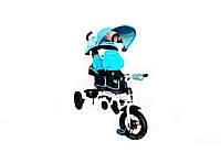 Crosser Twins NEW детский трехколесный велосипед для двойни голубой