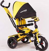 Azimut Crosser T-400 EVA дитячий триколісний велосипед жовтого кольору, фото 1