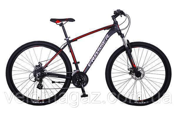 """Велосипед Crosser Inspiron*19 26"""" черно-красный горный алюминиевый"""
