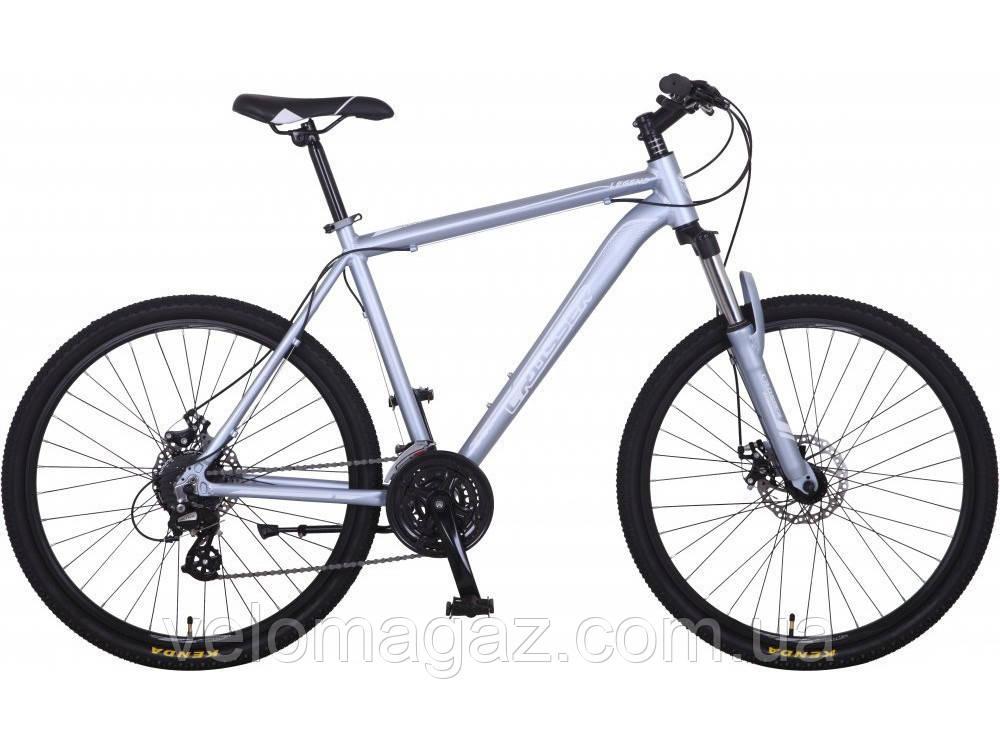 """Велосипед горный Crosser Legend-1*19 29"""" серебро алюминиевый"""