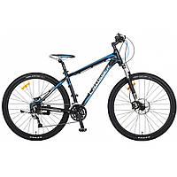 """Велосипед CROSSER Pionner*17 26"""" сіро-блакитний, алюмінієвий, гірський гідравліка, фото 1"""