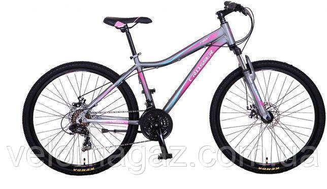 """Велосипед Crosser Sweet -1*16 26"""" серый горный алюминиевый"""