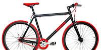 """Велосипед горный CROSSER fix gear 28"""" алюминиевый черно-красный, фото 1"""