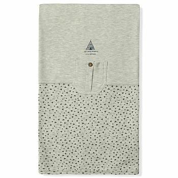 Одеяло демисезонное для новорожденного из хлопка Caramell Серое (5977)