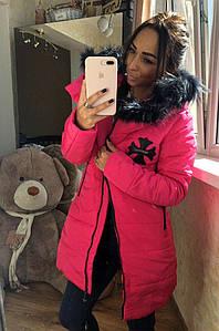 Куртка женская зимняя розовая 8646