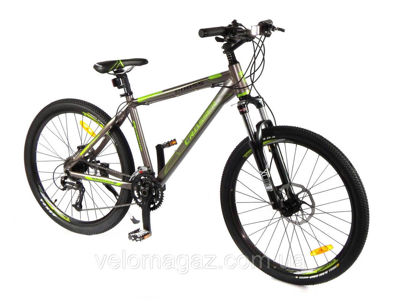 """Велосипед Crosser Cross-1 *17.5 26"""" черный горный алюминиевый"""