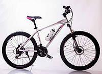 """Велосипед горный алюминиевый SIGMA HAMMER*17 26"""" (white-pink), фото 1"""
