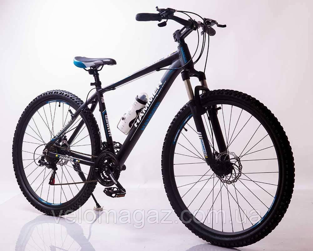 """Велосипед горный алюминиевый SIGMA HAMMER*19 29"""" (black-blue)"""
