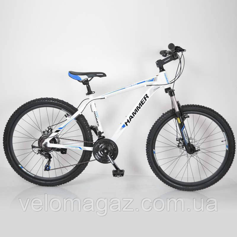 """Велосипед горный алюминиевый SIGMA HAMMER*17 26"""" (white-blue)"""