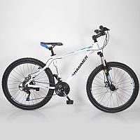 """Велосипед горный алюминиевый SIGMA HAMMER*17 26"""" (white-blue), фото 1"""