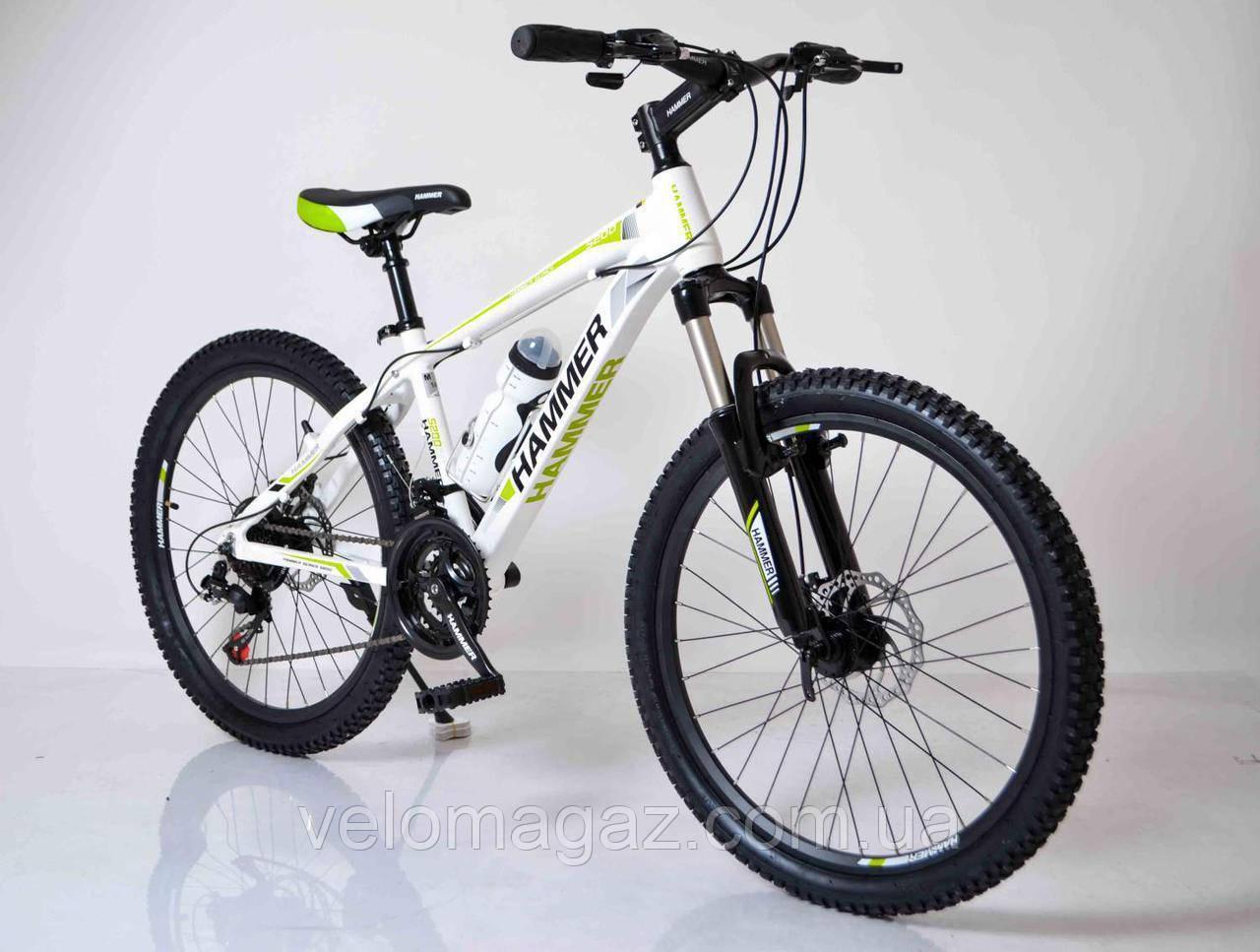 """Велосипед горный алюминиевый SIGMA HAMMER*14 24"""" 24-HAMMER (white-green)"""