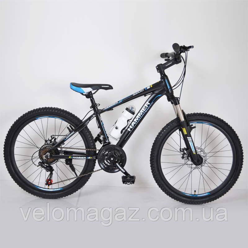 """Велосипед горный алюминиевый SIGMA HAMMER*14 24""""(black-blue)"""