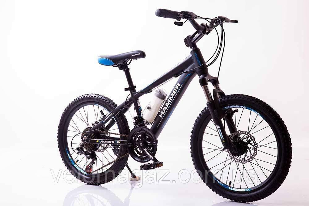 """Велосипед SIGMA HAMMER*12 20"""" горный алюминиевый (black-blue)"""