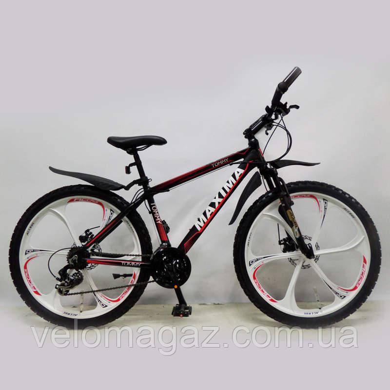 """Велосипед SIGMA MAXIMA-TOMMY 26"""" Black алюмінієвий спортивний підлітковий"""