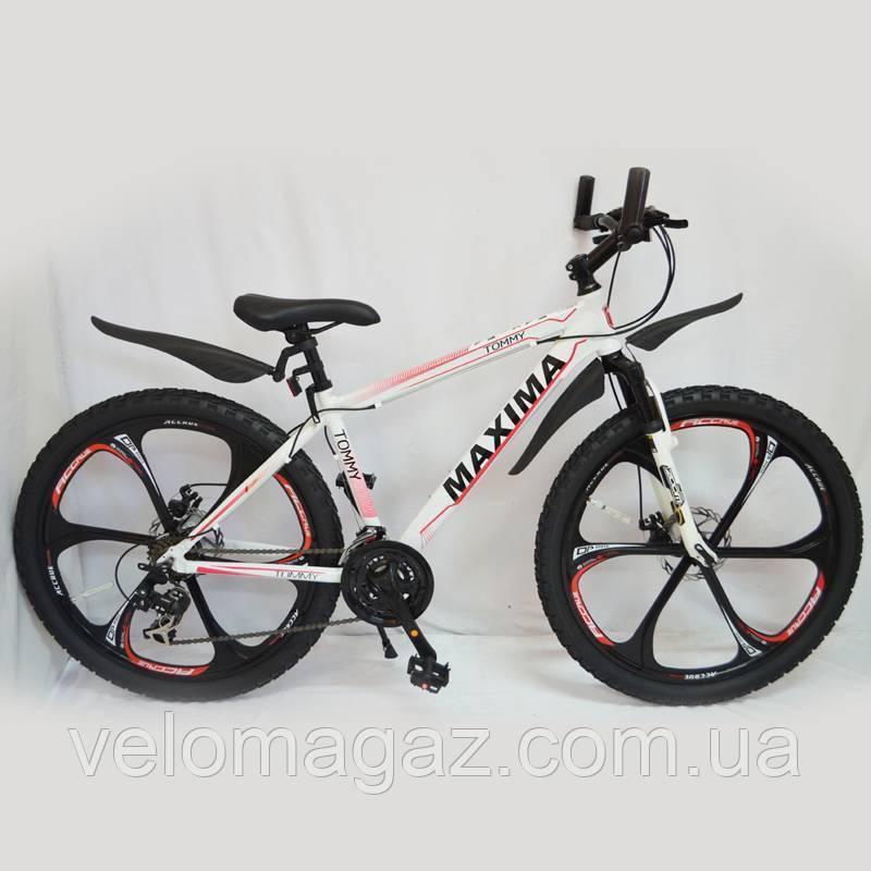 Велосипед SIGMA MAXIMA-TOMMY 26'' White алюминиевый спортивный подростковый