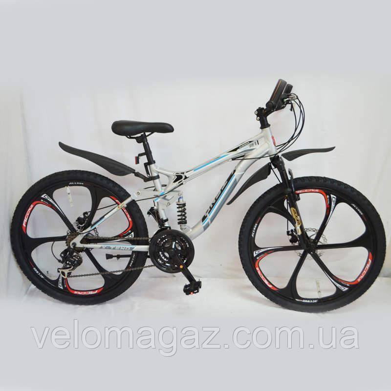 """Велосипед SIGMA """"X-TEND"""" 26'' Silver алюминиевый спортивный подростковый"""