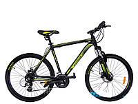 """Велосипед горный Crosser Legend-1*20 26"""" черно-салатовый алюминиевый, фото 1"""