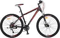 """Велосипед CROSSER Pionner*17 26"""" черно-красный алюминиевый горный гидравлика, фото 1"""
