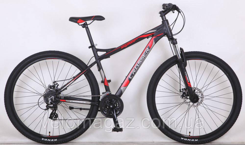 """Велосипед Crosser Viper*18 26"""" чорний алюмінієвий гірський"""