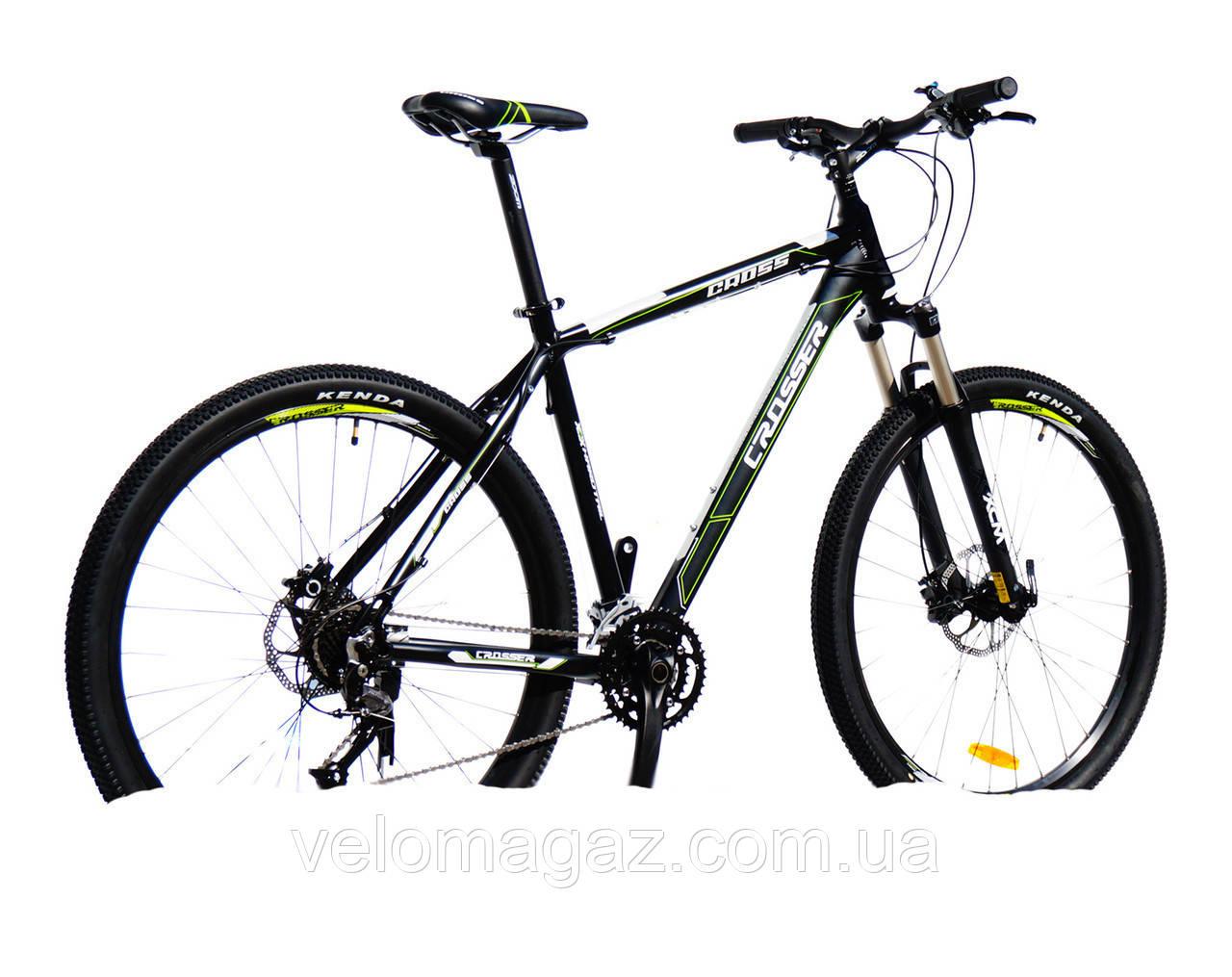 """Велосипед Crosser Cross-1 *21 29"""" черный горный алюминиевый гидравлика"""