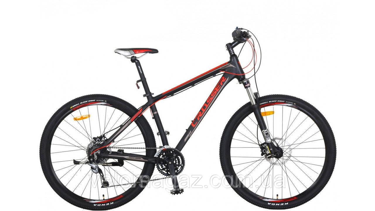 """Велосипед Crosser One-1 *21 29"""" черно-красный горный алюминиевый гидравлика"""