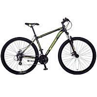 """Велосипед горный Crosser Legend-1*21 29"""" черно-салатовый алюминиевый, фото 1"""