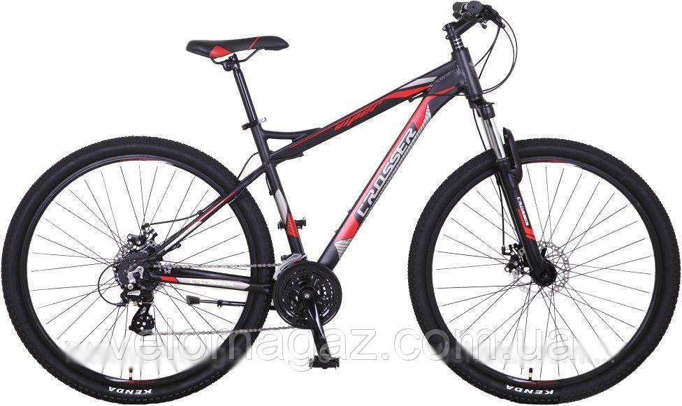 """Велосипед Crosser Viper*19 29"""" черно-красный алюминиевый горный"""