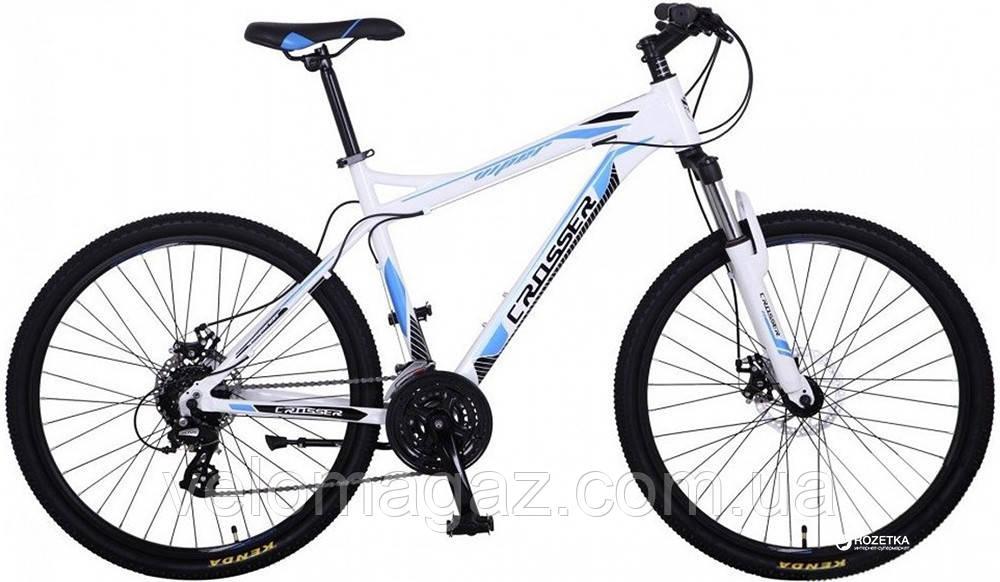 """Велосипед Crosser Viper*19 29"""" бело-синий алюминиевый горный"""
