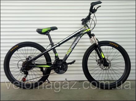 """Велосипед TopRider-611 24"""" горный детский салатовый"""