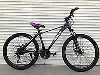 """Велосипед горный TopRider-611 26"""" фиолетовый"""
