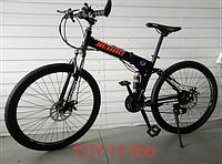 """Велосипед горный TopRider CCY12 26"""" складной черный"""