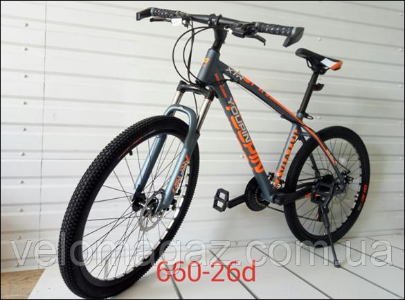 """Велосипед спортивный TopRider 660 26"""" алюминиевый"""