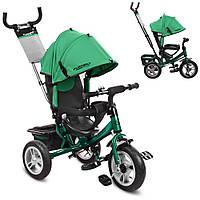 Детский велосипед M 3113A-N4 трехколесный, колеса надувные, индиго, фото 1