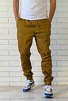 Летние брюки джоггеры горчичного цвета