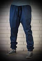 Синие мужские брюки джоггеры