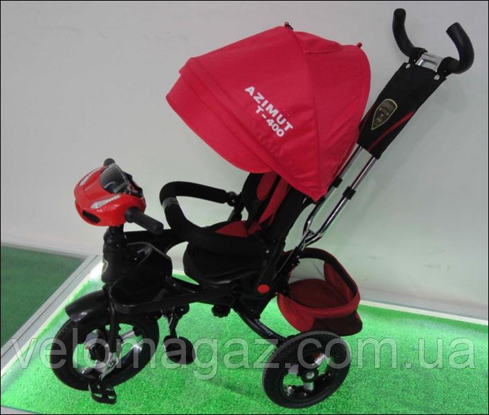 AZIMUT T-400 AIR з USB дитячий триколісний червоний велосипед