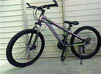 """Велосипед спортивный TopRider 887 24"""" серо-розовый, фото 1"""