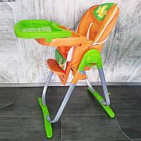 Детский стульчик для кормления CH-81 оранжевый, фото 1