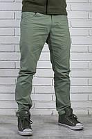 Хлопковые брюки чинос бирюзового цвета