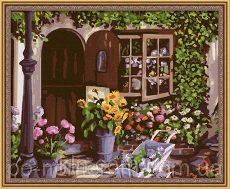 Картина по номерам Menglei MG017 Уютный цветочный магазин  40 х 50 см 950 город