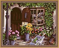 Картина по номерам Menglei MG017 Уютный цветочный магазин  40 х 50 см