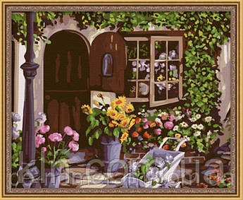 Картина за номерами Menglei MG017 Затишний квітковий магазин 40 х 50 см 950 місто