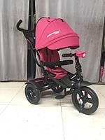 CROSSER T-400 NEO ECO AIR рожевий дитячий триколісний велосипед